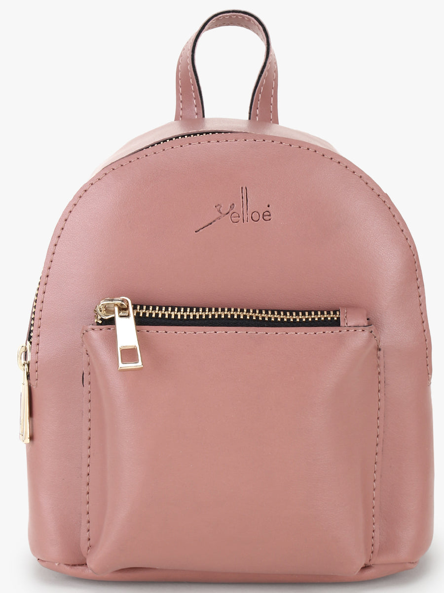 Small & Stylish Peach Backpack