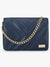 Yelloe Hand Crafted Blue Sling Bag