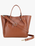 Solid Tan Small Handbag