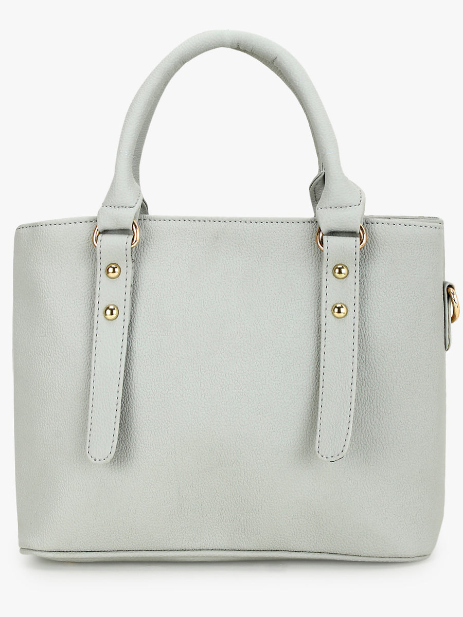 Taupe handbag with front pocket