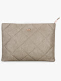 Beige Embroidered Laptop Sleeve
