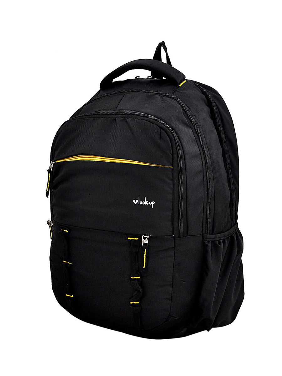 Yelloe Royal Black Backpack