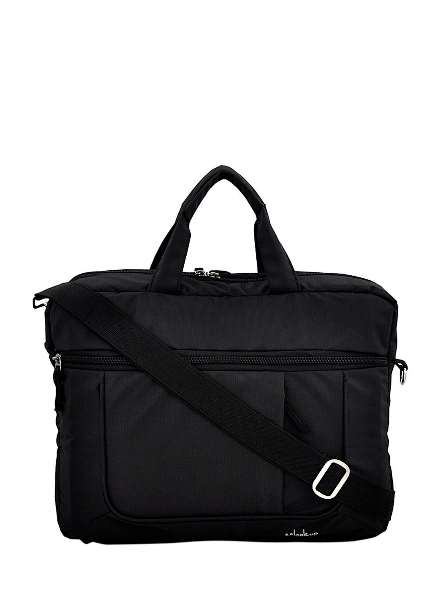 Yelloe 15.6 inch Expandable Laptop Bag (Black)