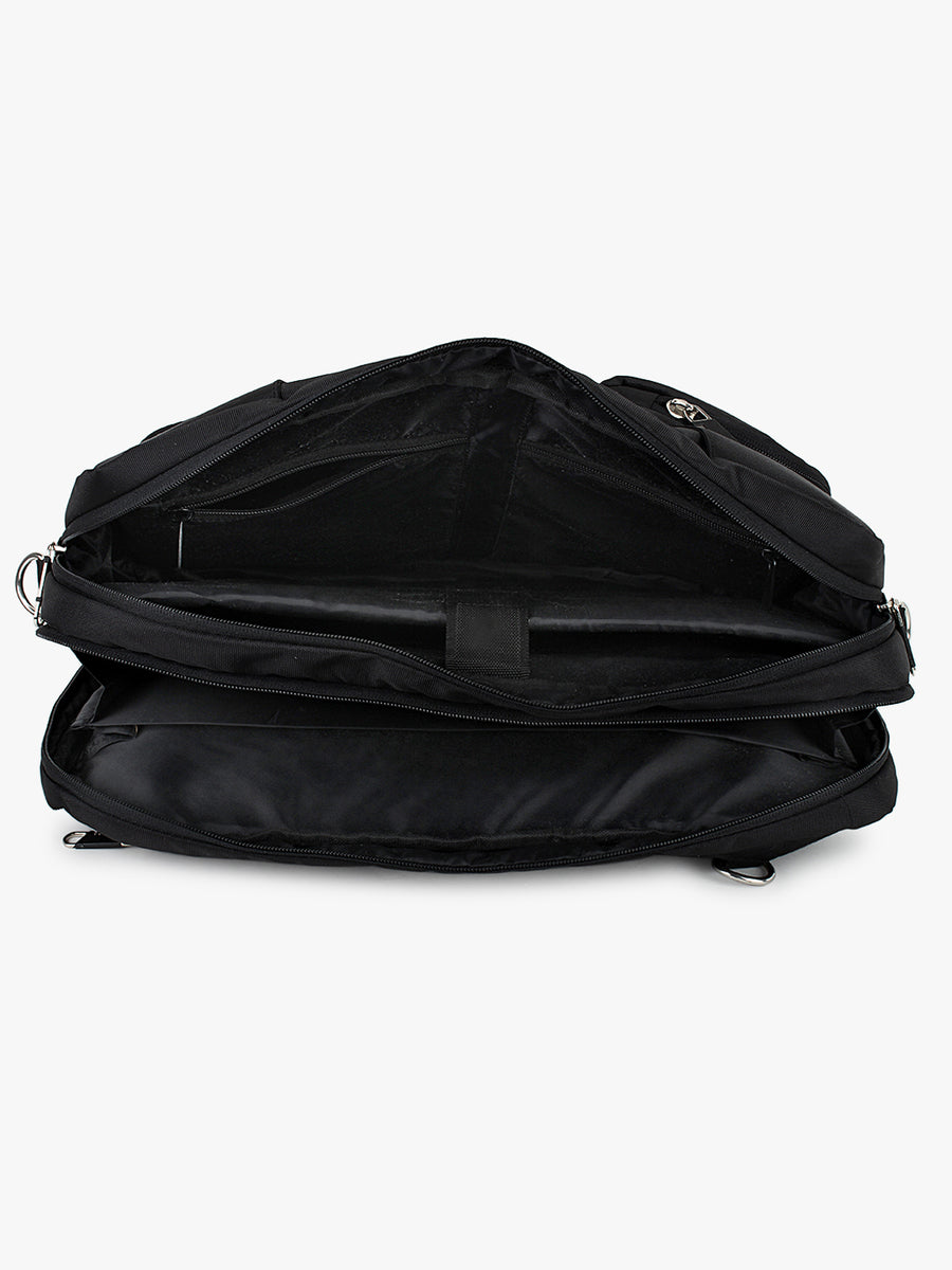 Yelloe Laptop Messenger Bag cum Backpack Black