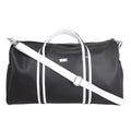 Yelloe Solid Leatherite Black Duffel Bag