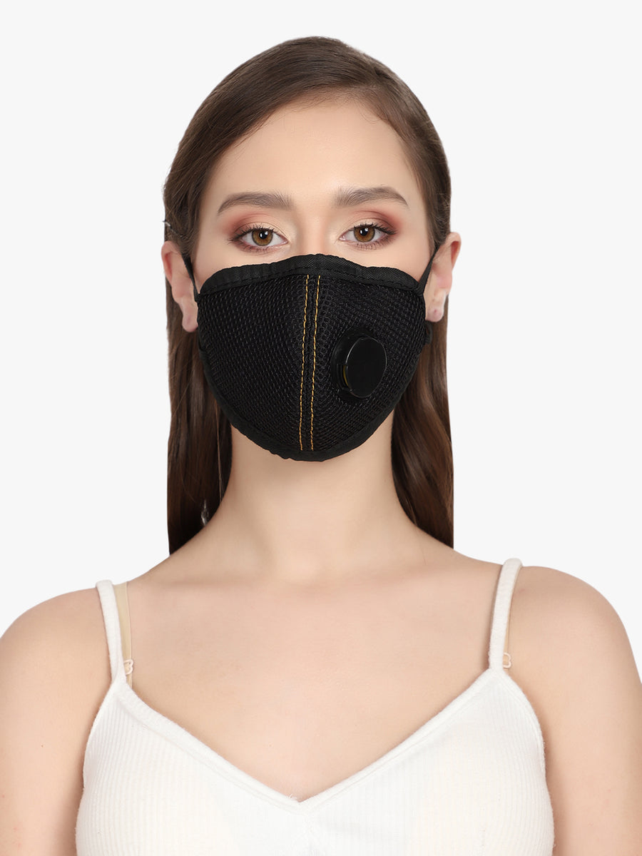 Yelloe YD95 Advanced Face Armour Air Pollution and Dust Mask (Pack of 7)