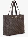 Double Front Pocket Tote Bag in Brown