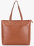 Double Front Pocket Tote Bag in Tan