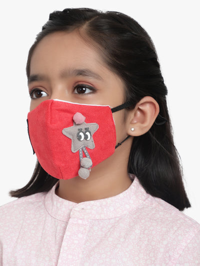 Kids 3 ply soft fabic Star Mask (Pack of 3)