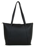 Colorblocked handheld bag in Black