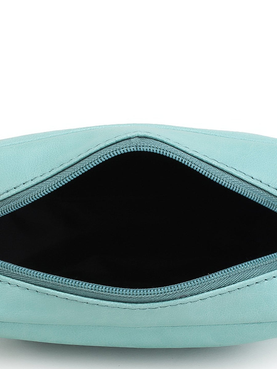 yelloe Turquoise Blue Solid Sling Bag