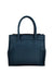 Yelloe Front Beige Tussel Women Handbag In Blue