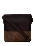 Yelloe Men's Brown Synthetic Messenger Bag (Brown)
