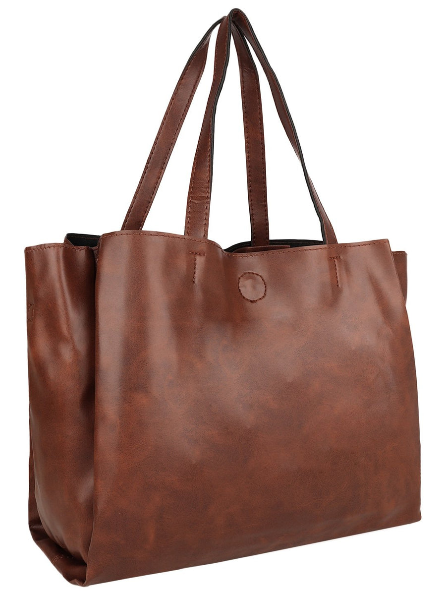 Yelloe Tan Multi compartment shoulder bag
