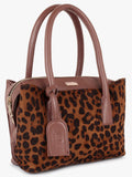 Leopard Print Handbag in Tan