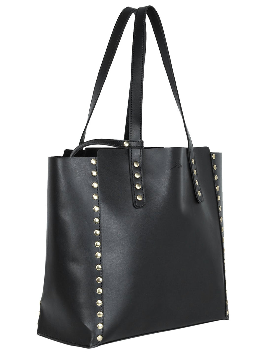 Yelloe Black Embellished Tote Bag in Bag