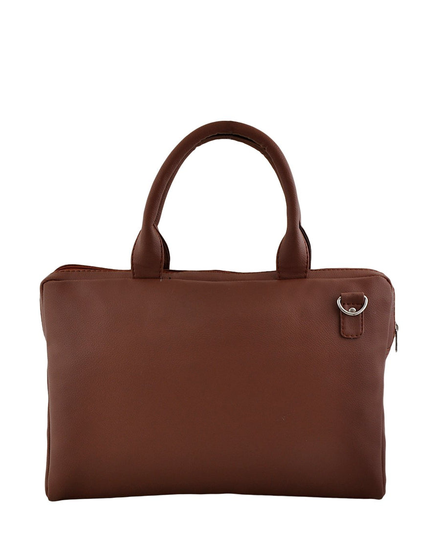 Yelloe 6 Ltrs Brown Laptop Bag