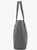 Yelloe Grey Synthetic Leather Handbags