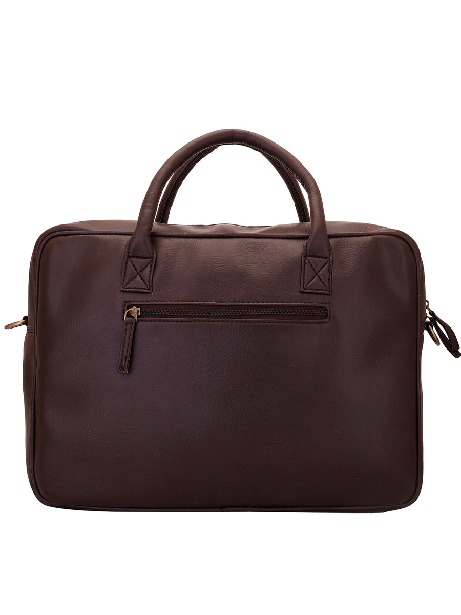 Yelloe Brown Laptop Messener Bag