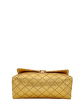 Yelloe Golden sling bag with Gold Chain Strap