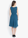 Yelloe Blue Frill Dress