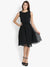 Yelloe Black Frill Dress