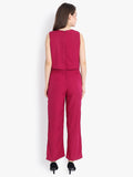 Sleeveless overlay jumpsuit