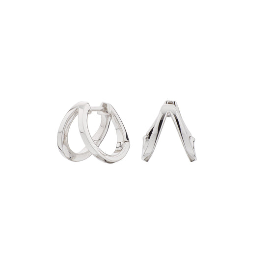 Pendientes Doble Criolla Urban Plata SEA-100-042-UU Itemporality