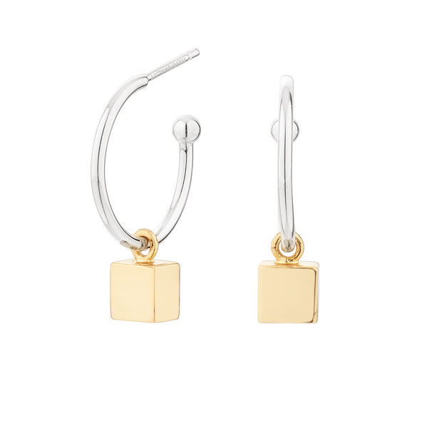 Pendientes Cube Cubo Oro SEA-400-052-UU- Itemporality