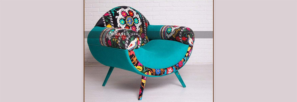 Suzani needlwork armchair couches
