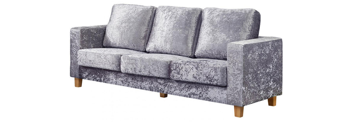 Chesterfield 3 Seater Sofa Linen Fabric Dark Grey