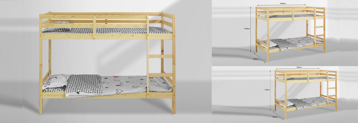 Mecor Bunk Bed - Frame Only - Teyli Furniture