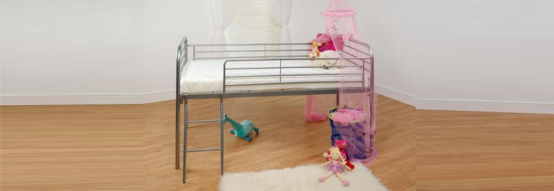 Mid Sleep Classic Metal Frame Bed 3ft Single - Teyli Furniture