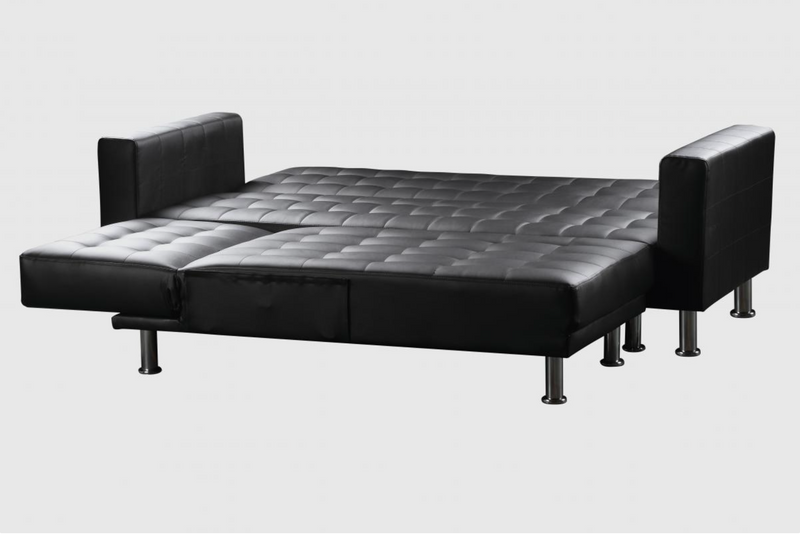 Hawthorn Corner Multi Functional Sofa Bed PU & PVC Black