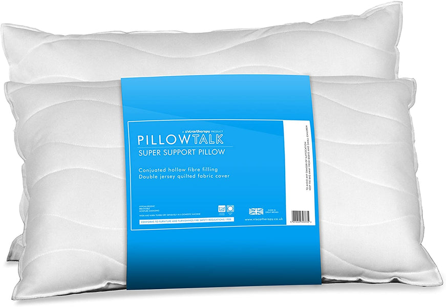 100% Virgin Staple Polyester Fibre Pillow Talk Super Support with Double Jersey Quilted Cover - Teyli Furniture