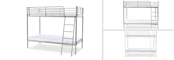 Torquay Metal Bunk Bed Single 3ft - Teyli Furniture