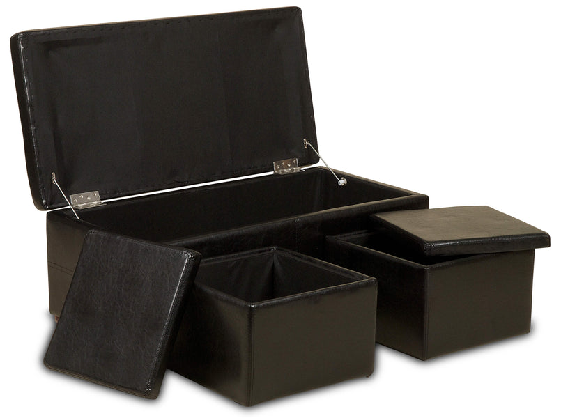 Ottoman Pre Built Storage Box Set - Teyli Furniture