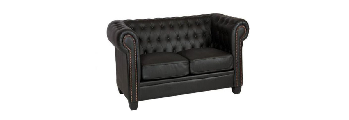 Winston 3 Seater Sofa Leather & PVC