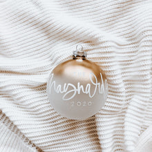 Load image into Gallery viewer, Frosted Gold Ombré Christmas Ornament