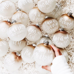 Frosted Gold Ombré Christmas Ornament