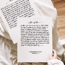 Load image into Gallery viewer, Hand Lettered Calligraphy Wedding Vows