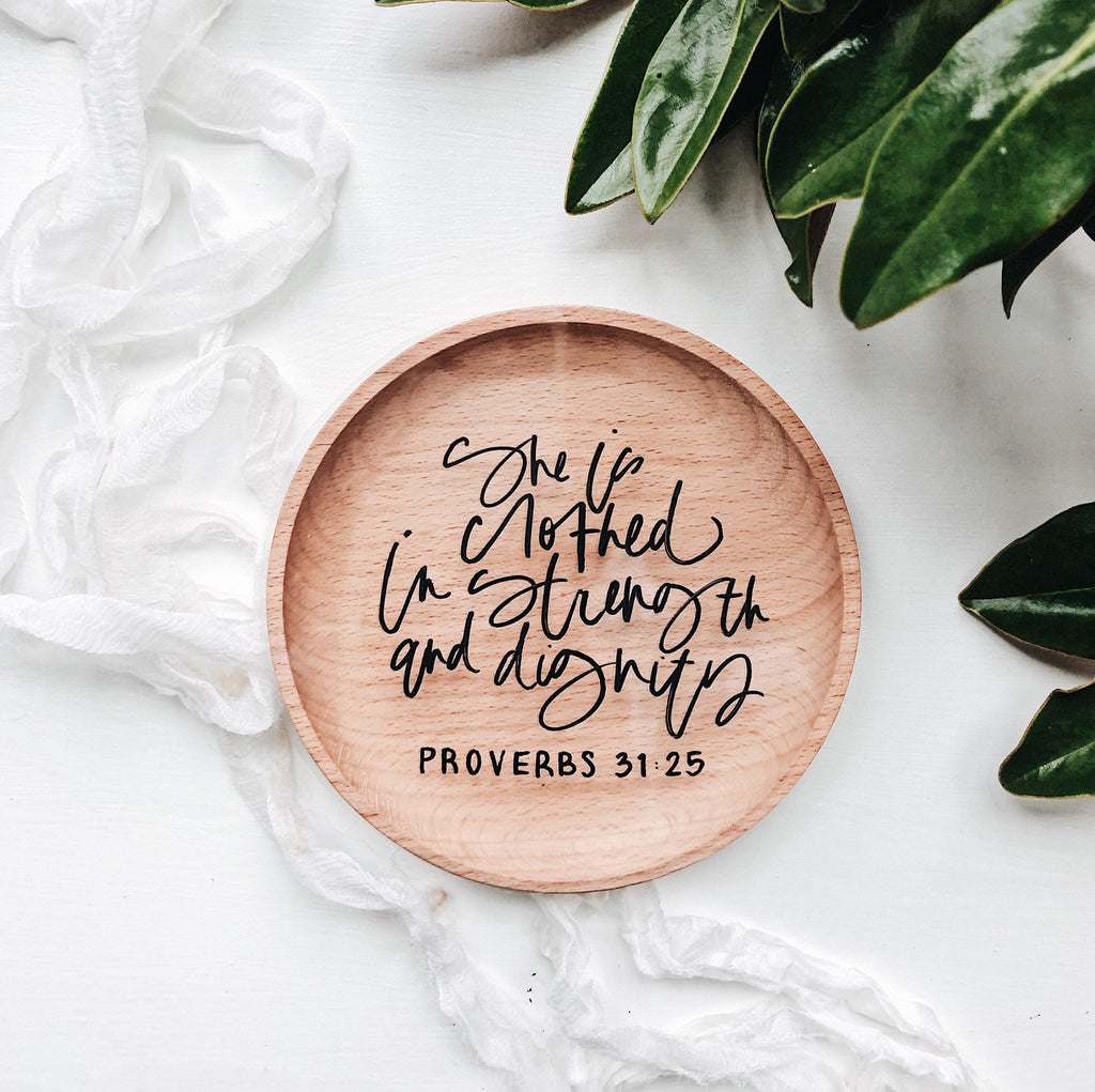 Bible Verse Wood Ring Dish, Mother's Day Gift Idea, Wedding Ring Dish, Wedding Gift