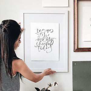 Hand Lettered Calligraphy Print