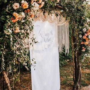 Calligraphy Fabric Wedding Banner