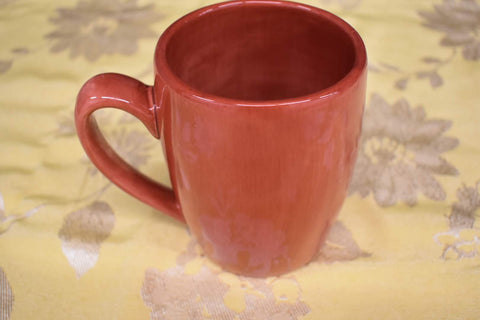 Ceramic Square Shape Mug in Light Red color