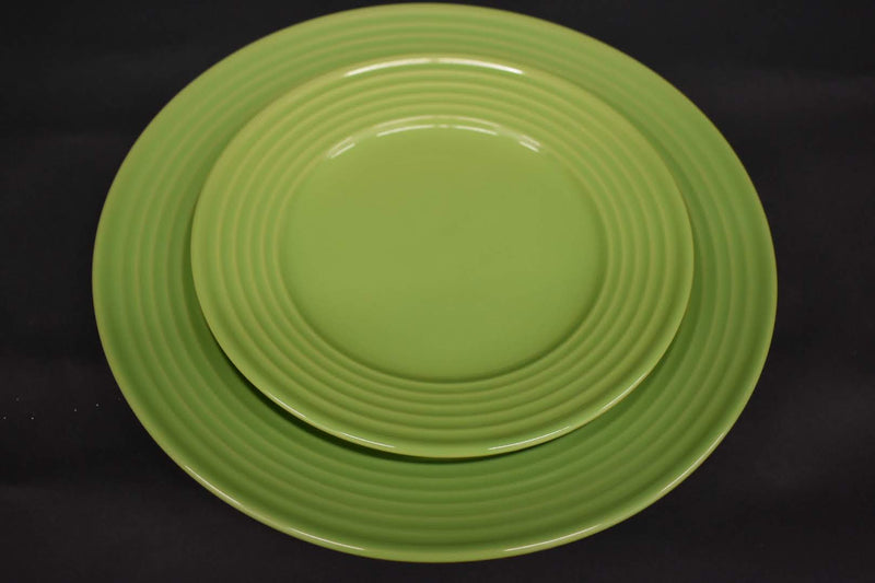 LIME GREEN COLOR - STONEWARE 2 PIECE DINNER SET - NEW