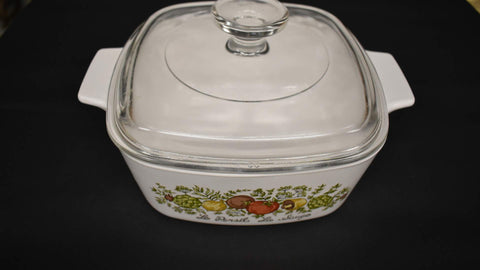 Corning ware Casserole Spice of Life with lid