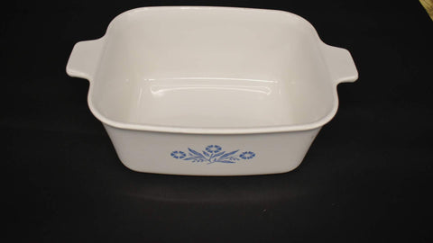 Corning Ware Casserole Blue Corn Flower V Square Dish