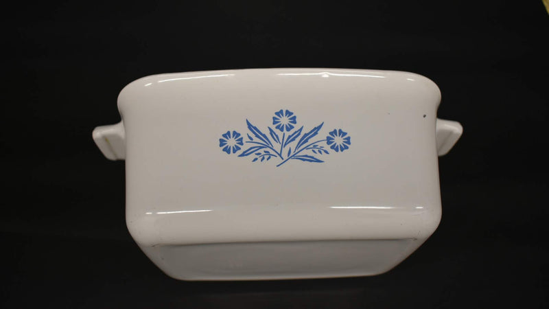 White Blue Corn Flower - Corning ware Casserole - Rectangular Shape