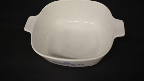 Corning Ware Casserole Blue Corn Flower X Square dish without lid